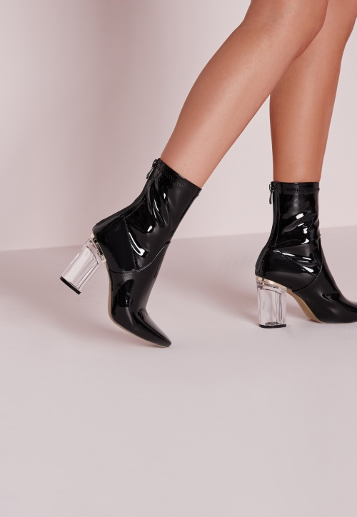Miss Guided boots talon transparent