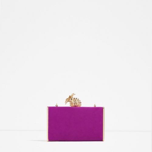 Zara minaudière violette ananas