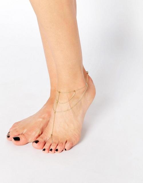 Gorjana Dey bracelet de chevilles à anneau orteil