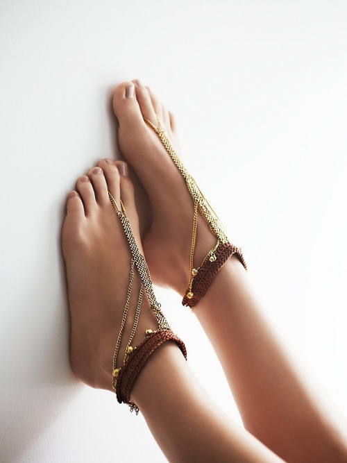 Free People bracelet chaine et cuir