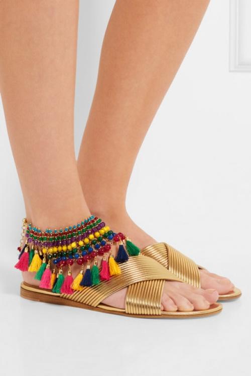 Rosantica bracelet de pied pompons