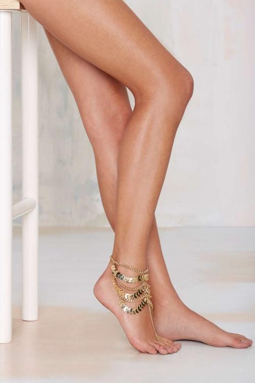 Nasty Gal  bracelet de pied or