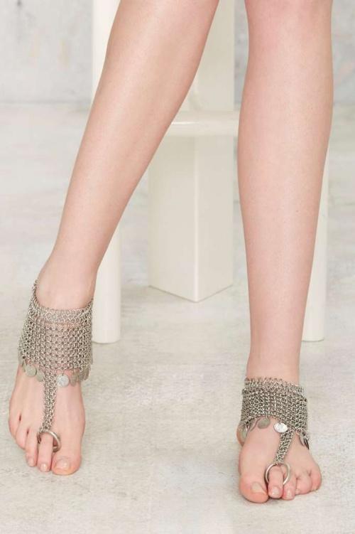 Nasty Gal  bracelet de pied argent