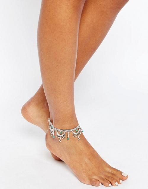 Asos  bracelet de cheville pierreries