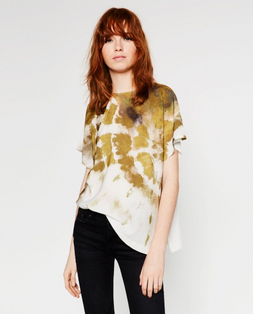 Zara t-shirt tye and dye