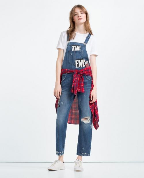 Zara salopette patchs