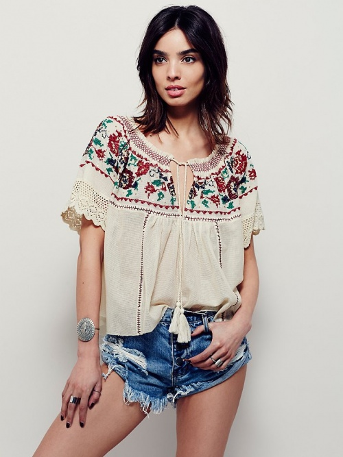 Free People blouse ethnique