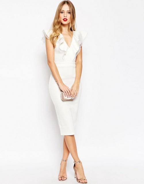 Asos robe volant blanche