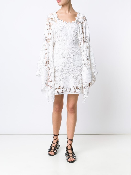 Chloé robe dentelle manche oversize