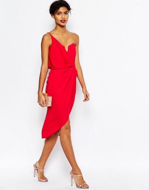 Asos - Robe rouge asymétrique