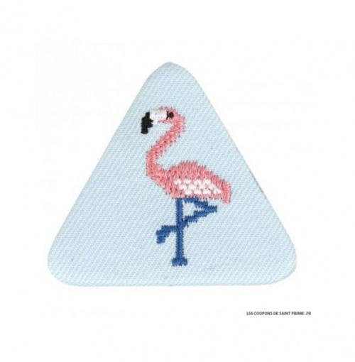 Coupons de Saint Pierre badge flamant rose