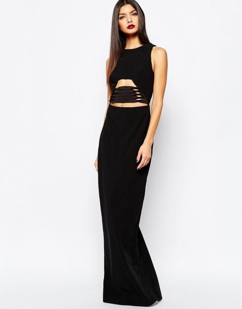 AQ / AQ - Robe longue noire