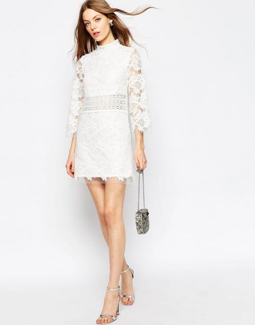 Asos - Robe blanche dentelle