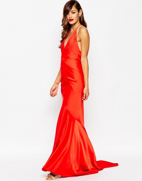 Asos - Robe longue rouge