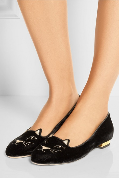 Charlotte Olympia  ballerines chat