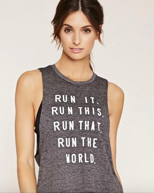 t-shirt message sportive