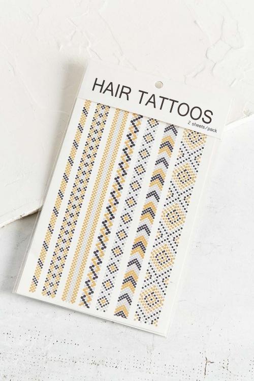 Hair Metallic Tattoos