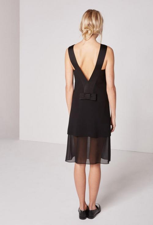 Claudie Pierlot robe courte noire dos nu
