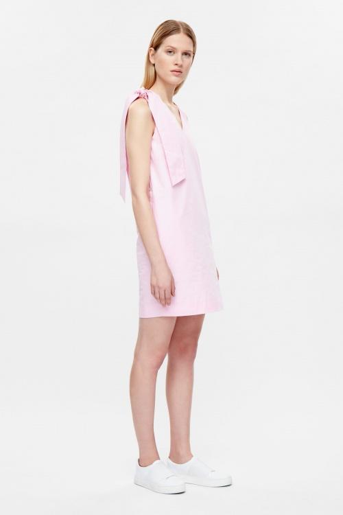 COS robe noeud rose pale