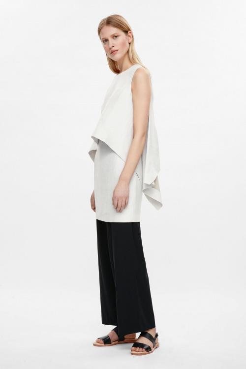 COS  robe drapée en soie