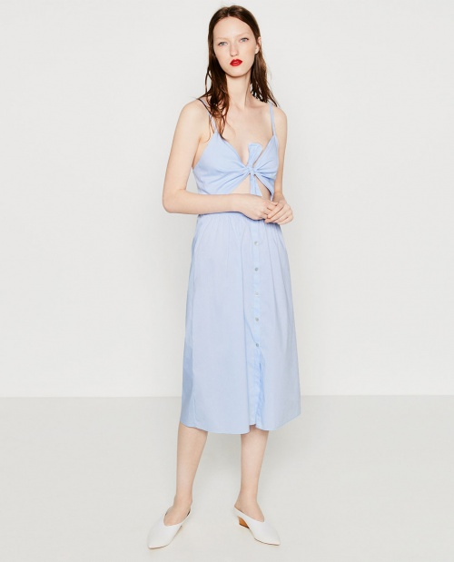 Zara robe noeud poitrine