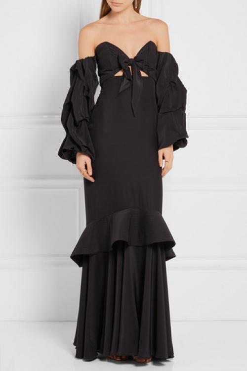 Johanna Ortiz  maxi dress noeud poitrine noir