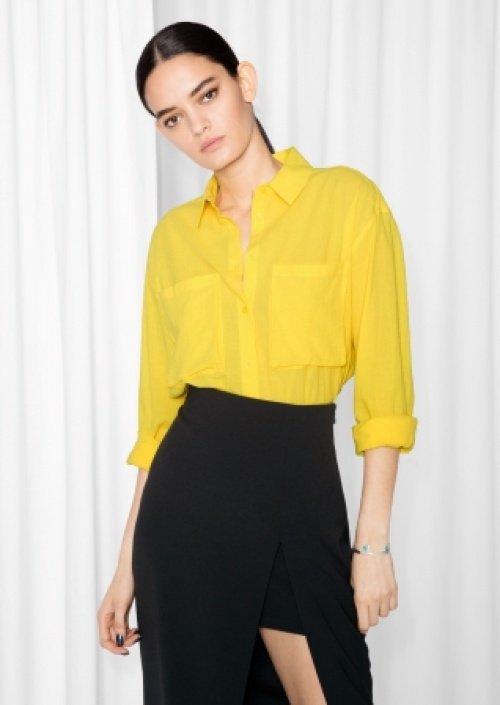 & Other Stories - chemise jaune large