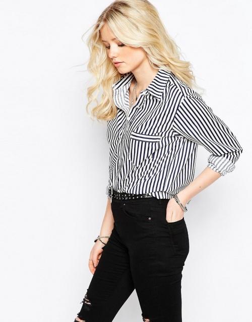 Glamorous chemise à rayure oversize