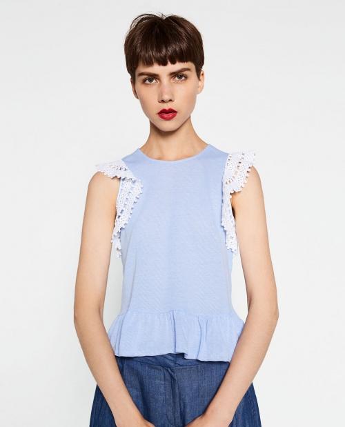Zara top crochet assorti