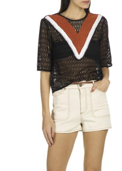 Sandro  top t-shirt en crochet
