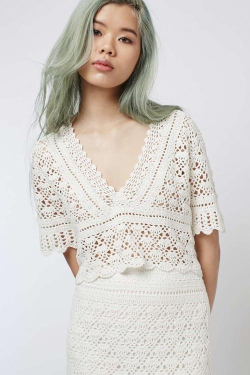Topshop  top crochet