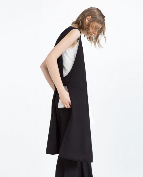Zara veste longue coté struturé
