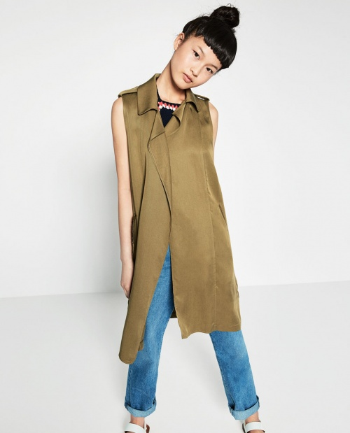 Zara veste longue sans manches