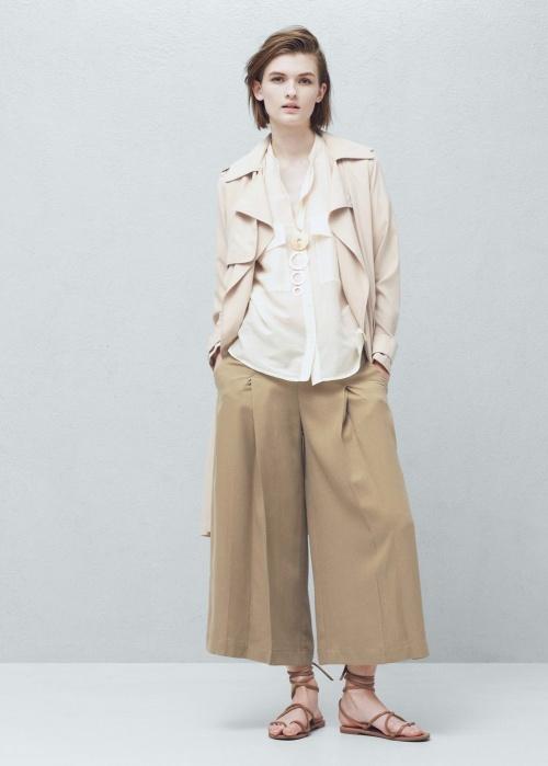 Mango jupe culotte beige large