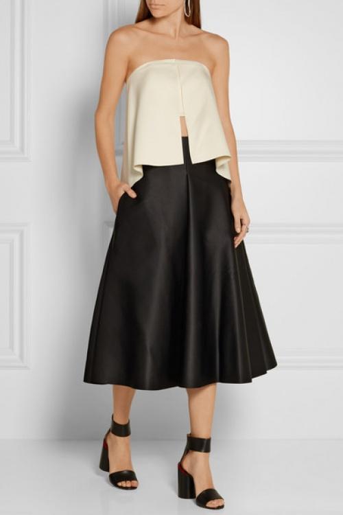Solace of London  jupe culotte satin noire