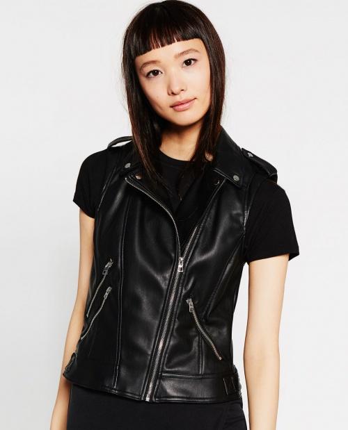Zara veste cuir sans manche