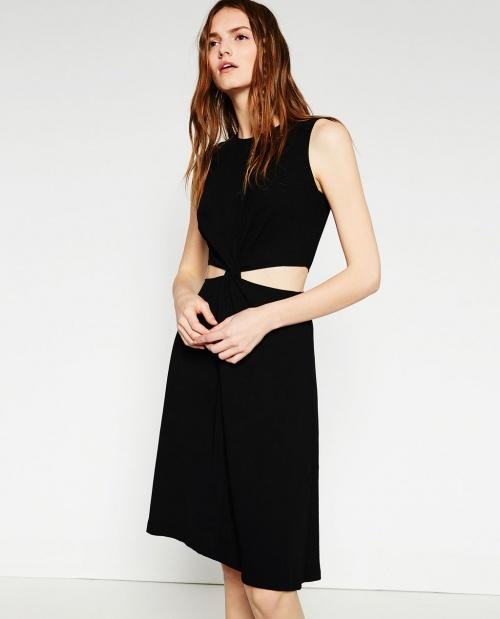 Zara robe noire fendue ventre