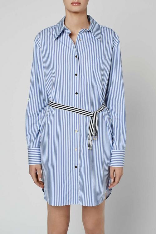 Topshop unique robe chemise rayures transversales
