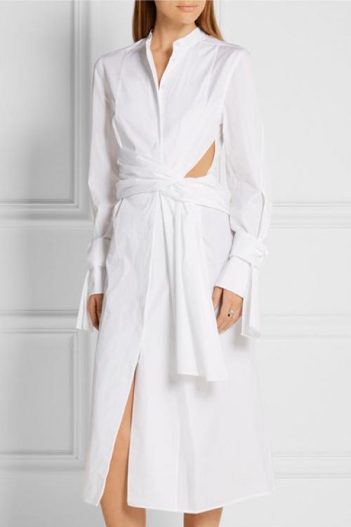 3.1 Phillip Lim  robe chemise à découpe et noeud