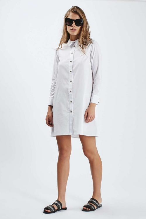 Topshop robe chemise blanche ample