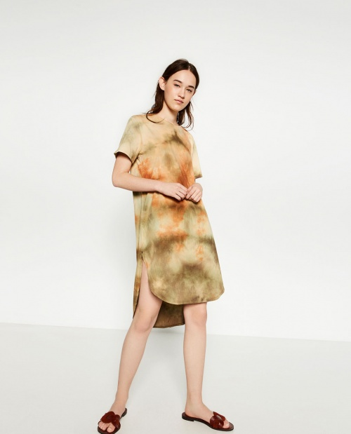 Zara - T-Shirt tie & dye long