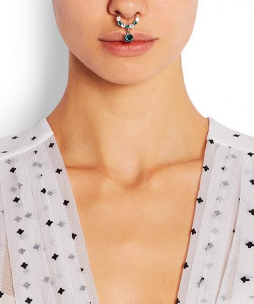 Givenchy anneaux de nez émeraude