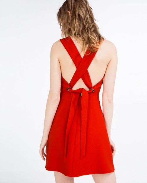 Zara - robe dos croisé