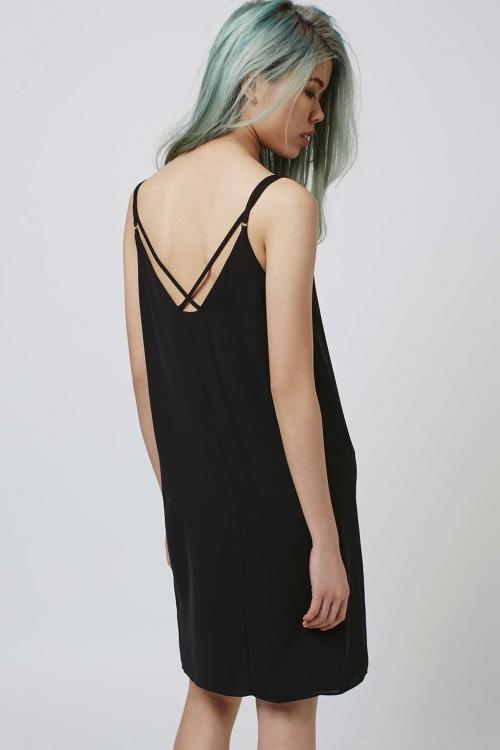 Topshop - Petite robe à dos croisé