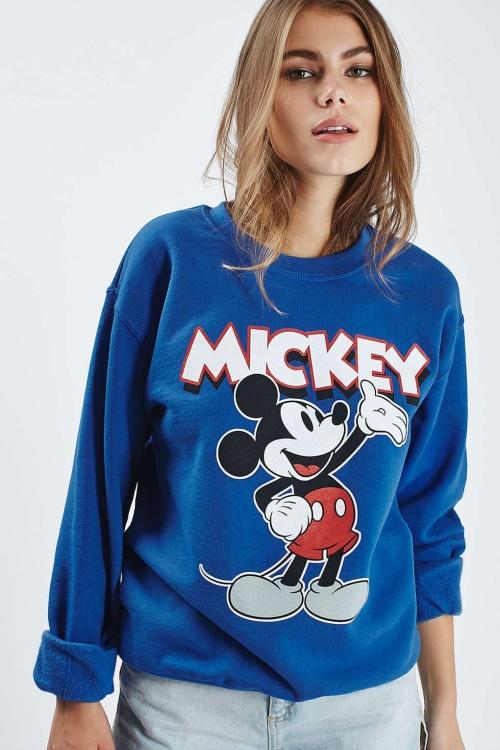 Topshop - Sweat  mickey bleu