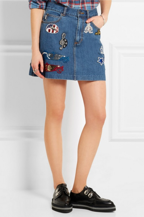 Marc Jacobs jupe court patch