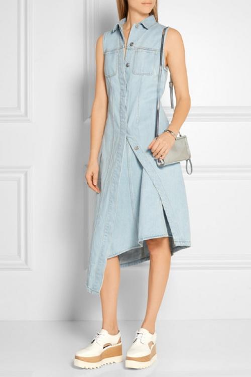 Acne Studio  robe longue jean sans manche