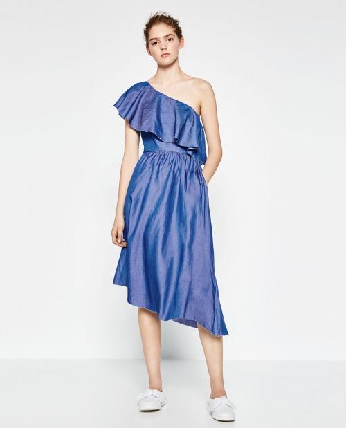 Zara - Robe asymétrique volant