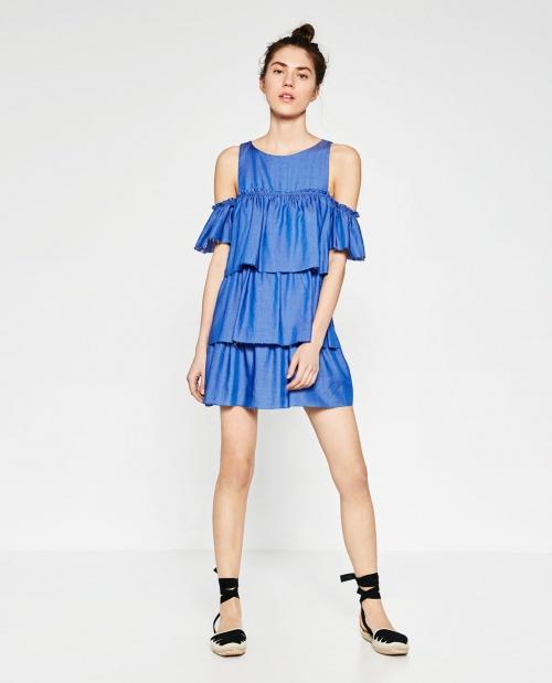 Zara - Robe volants accumulées