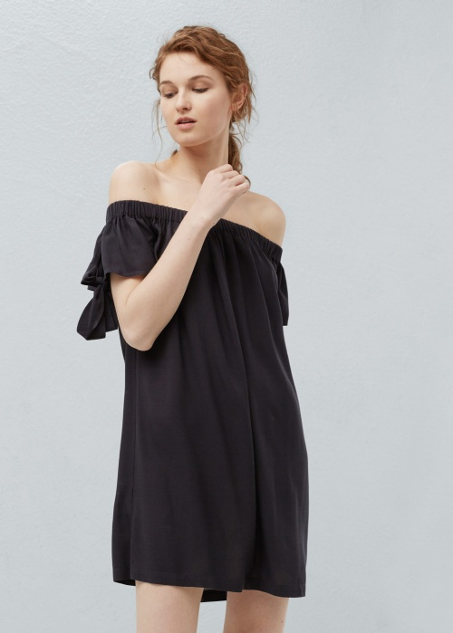 Mango  robe noir bardot